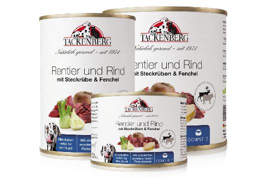 Nassfutter Rentier & Rind mit Steckrübe & Fenchel