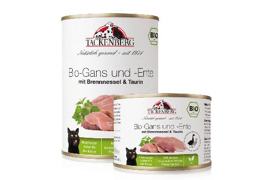 Bio-Gans und -Ente mit Brennessel & Taurin