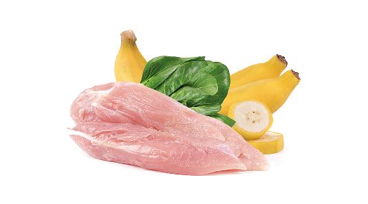 Barf Menü vom Huhn & Mangold & Banane - 500g