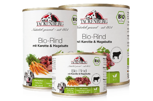 Bio-Rind mit Karotte & Hagebutte