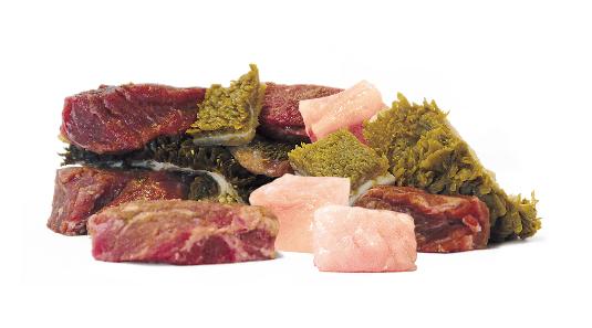 Tricolore vom Rind und Huhn in Würfeln - 850g